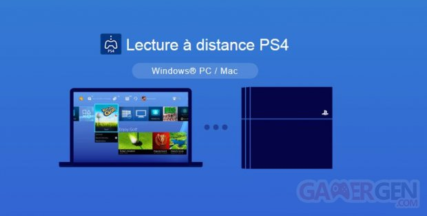 Remote Play Lecture a distance PS4 PC