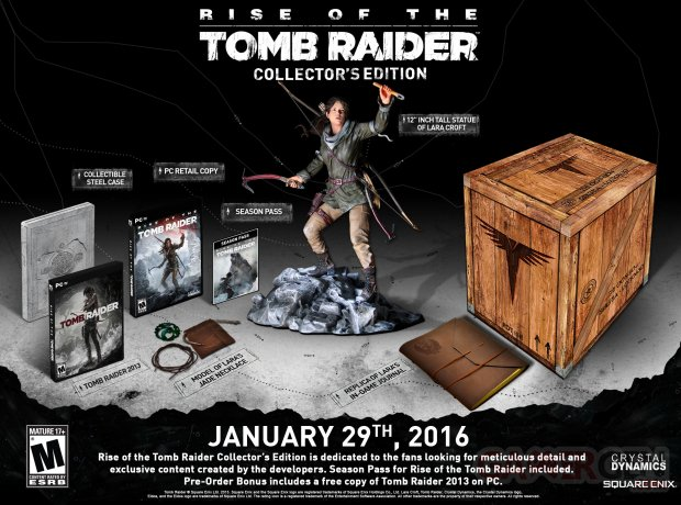Rise Tomb Raider Collector PC