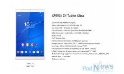 INFO ou INTOX - Sony Xperia Z4 Tablet Ultra : les premières informations sur une tablette de 13 pouces