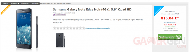 samsung galaxy note edge topachat