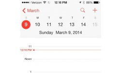 screenshot apple calendrier heure ete