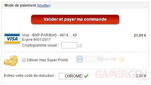 screenshot remise 3 € chromecast
