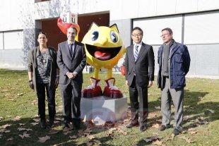 sculpture pac man espagne ambassadeur japon  (1)