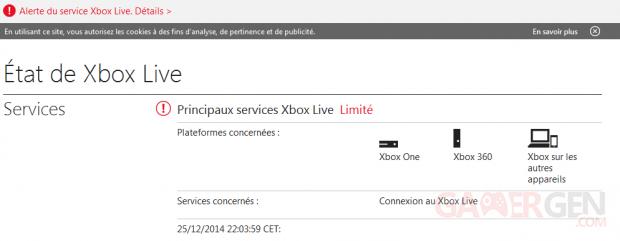 Servuce Xbox Live Perturbé