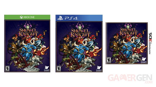 Shovel Knight jaquettes