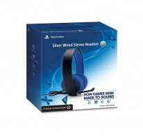 Silver Wired Stereo Headset package boite