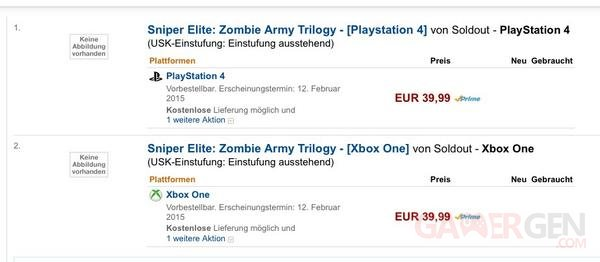 Sniper Elite Zombie Army Trilogy Amazon