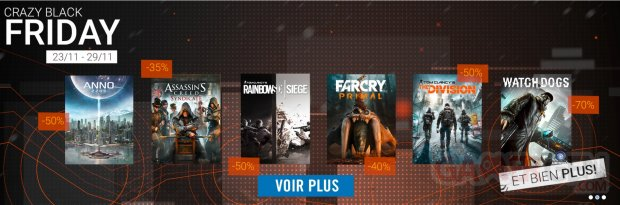 Soldes Uplay Ubisoft Black Friday