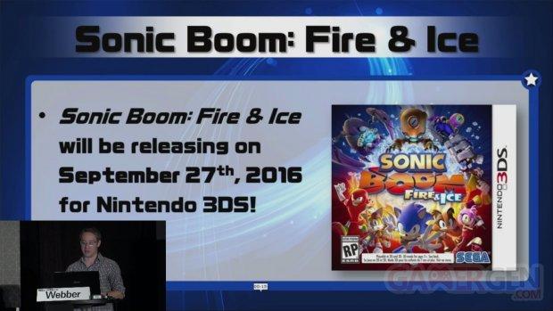 Sonic Boom Fire & Ice date sortie