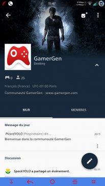 Sony application PlayStation Communautés3