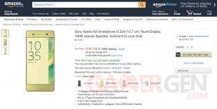 Sony Xperia XA precommande Amazon
