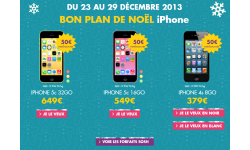 sosh bon plan noel iphone 2013