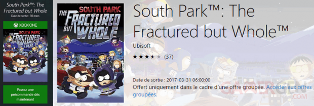 South Park Annale Destin Fracture Whole date sortie