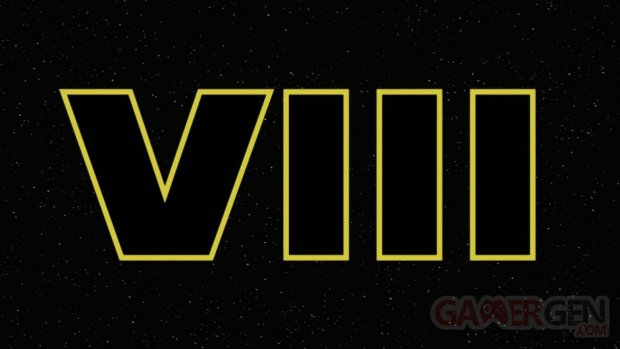 Star Wars Episode VIII 8 head logo