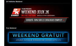 Steam 2K Week end gratuit