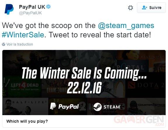 Steam le lancement des soldes d 39 hiver 2016 dat par paypal gamergen com - Date soldes hiver 2016 ...