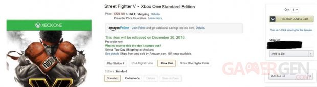 Street Fighter V Xbox One Amazon