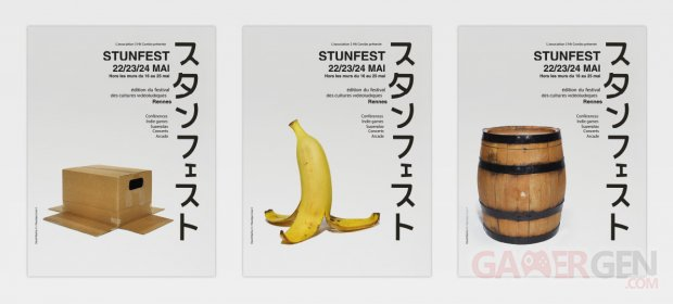 stunfest 2015 visuel affiches banane+carton+tonneau B