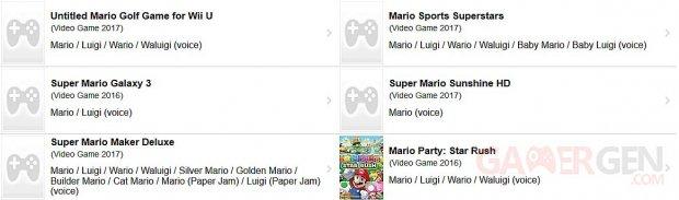 Super Mario Nintendo Switch images rumeur leak