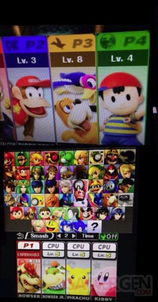 super smash bros 3ds leak roster 1