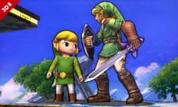 super smash bros. link cartoon 3ds 002