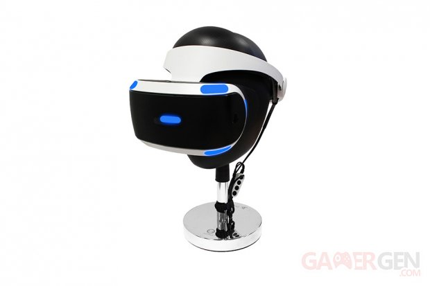 playstation vr un repose casque officiel gamergen com. Black Bedroom Furniture Sets. Home Design Ideas