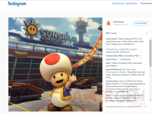 teasing amiibo toad mario sunshine instagram