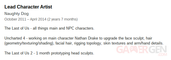 the last of us 2 lead character artist linkedin