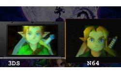 The Legend of Zelda Majora's Mask 3D comparaison