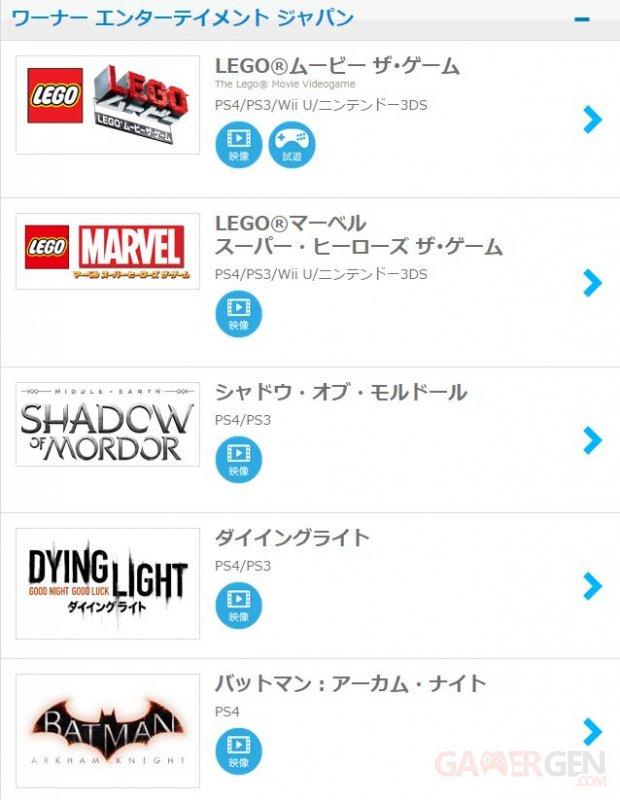 info ou intox les jeux warner bros exclusifs la ps4 au japon gamergen com. Black Bedroom Furniture Sets. Home Design Ideas