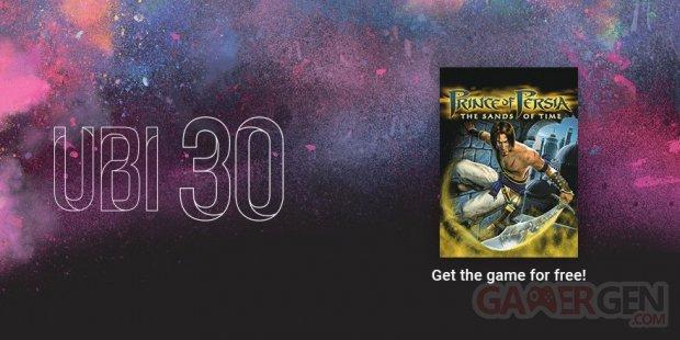 Ubi 30 Prince of Persia Les Sables du Temps offre juin 2016