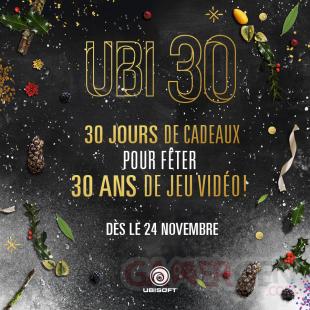 Ubi30 Anniversaire Ubisoft 30 jours cadeaux 24 11 2016