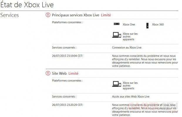 xbox live état