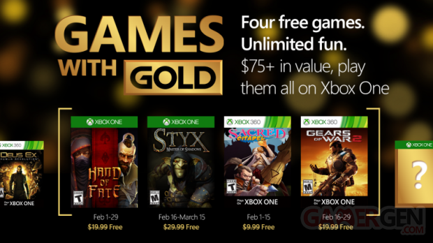 xbox live games with gold février 2016
