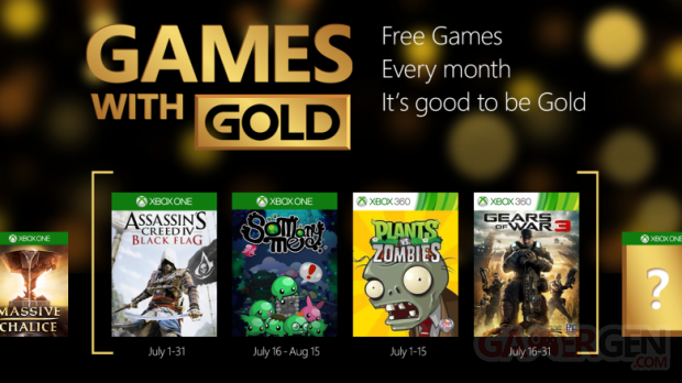 Xbox Live Games with Gold juillet 2015