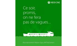 xbox microsoft france peniche troll sony lancement ps4 bateau boat twitter