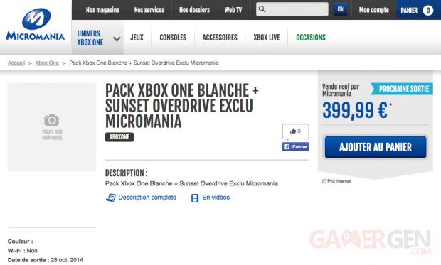 Xbox One blanche Micromania