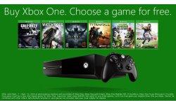Xbox One : une console achetée, un jeu au choix offert