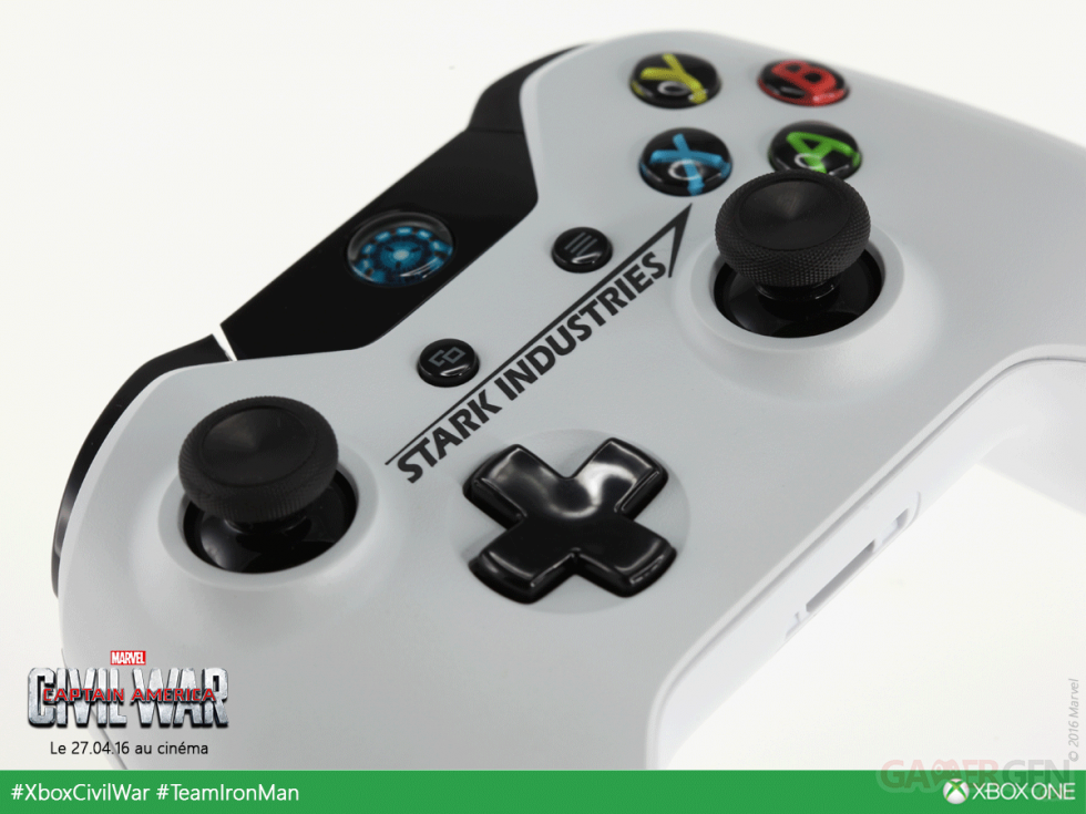 Image xbox one tony stark iron man consoles manette images - Comment connecter manette wii a la console ...