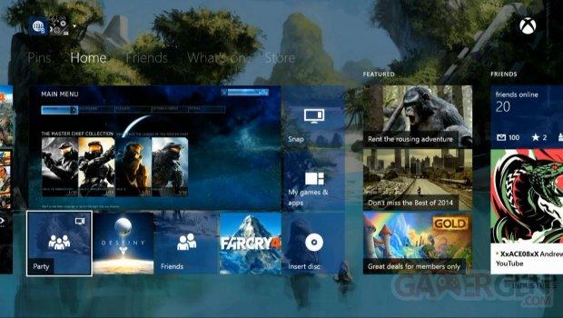 Xbox One tuiles transparentes