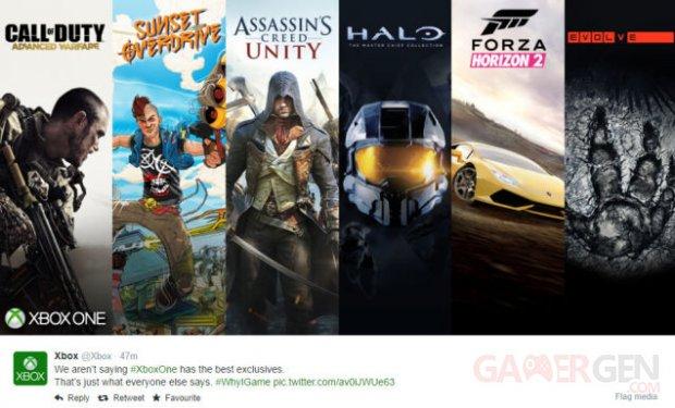 Xbox One tweet erreur