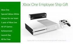 xbox one white blanche employes microsoft