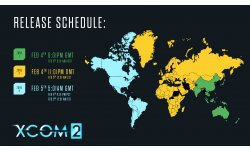 XCOM 2 horaires de lancement