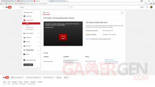 YouTube video GTA V Note 7 bombe copyright