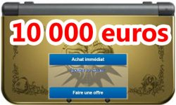 zelda collector 10000 euros new 3DS