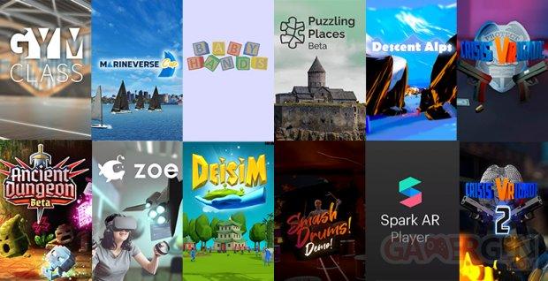 12 premières applications App Lab Oculus Quest