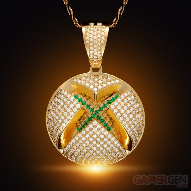 14k gold solid gold xbox x king ice solid gold diamond sphere logo necklace 23190599270575 1200x