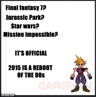 2015 reboot années 90 final fantasy vii remake