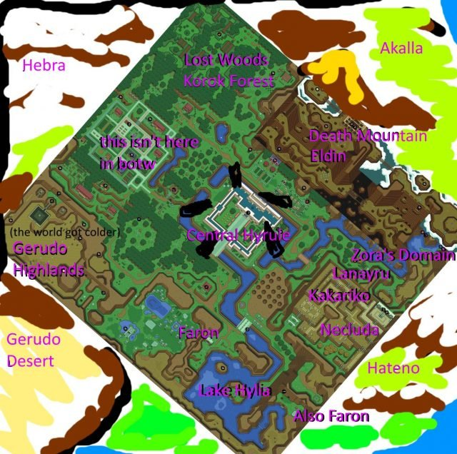 a link to the past breath wild carte map legend zelda 01