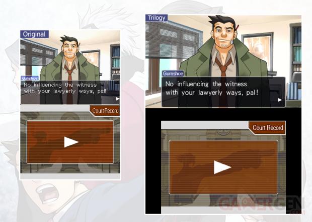 Ace Attorney Trilogy Comparaison 3DS DS 10